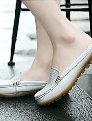 Недорогие -Жен. Обувь Полиуретан Весна Удобная обувь Башмаки и босоножки для Повседневные Белый Черный Оранжевый Желтый Красный