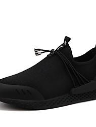 abordables -Homme Chaussures Grille respirante Printemps Automne Confort Chaussures d'Athlétisme Marche Ruban pour Décontracté Noir Noir/Rouge