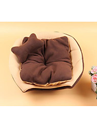 cheap -Cat Dog Bed Pet Mats & Pads Color Block Portable Foldable Soft Coffee Red For Pets
