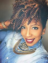 Недорогие -Спиральные плетенки 1pack Косы Кудрявый Афро Кудри Toni 51 см Эластичный Новое поступление Африканские косички 100% волосы канеколон
