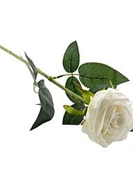 abordables -Fleurs artificielles 2 Une succursale style pastoral Roses Fleur de Table