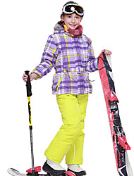 cheap -Phibee Girls' Ski Jacket with Pants Warm Waterproof Windproof Wearable Breathable Anti-static Ski / Snowboard Polyester