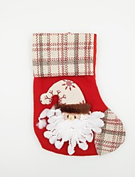 Linen Christmas Stocking Christmas Ornament