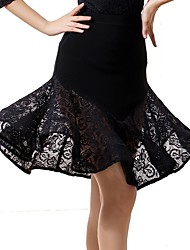 cheap -Ballroom Dance Bottoms Women's Performance Ice Silk Lace High Skirts