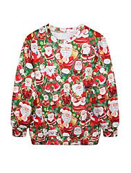 Ternos de Papai Noel Camisola de natal Feminino Natal Festival / Celebração Trajes da Noite das Bruxas Arco-Íris Estampado