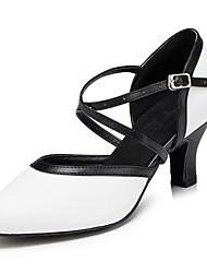 Недорогие -Для женщин Современный Кожа Сандалии Кроссовки Профессиональный стиль На толстом каблуке Белый