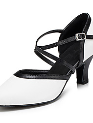 cheap -Women's Modern Leather Sandal Sneaker Professional Chunky Heel White