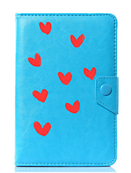 cheap -Case For Full Body Cases Tablet Cases Pattern Heart Hard PU Leather for