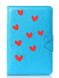 billige -universalt hjerte pu læderstativ dæksel til 7 tommer 8 tommer 9 tommer 10 tommer tablet pc