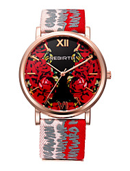 Women's Casual Watch Fashion Watch Wrist watch Japanese Quartz Water Resistant / Water Proof Fabric Band Casual Elegant Minimalist Black