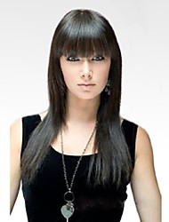 cheap -Human Hair Capless Wigs Human Hair Straight kinky Straight Natural Hairline Long Machine Made Wig Women's