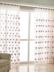 preiswerte -Schlaufen für Gardinenstange Ösen Schlaufen Zweifach gefaltet plissiert Window Treatment Landhaus Stil, Stickerei Gitter Schlafzimmer