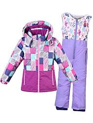 Phibee Veste & Pantalons de Ski Garçon Ski Chaud Coton Nylon Ensemble de Vêtements