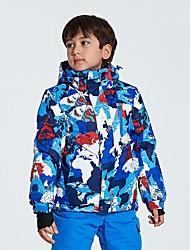 cheap -Ski Jacket Boys' Girls' Skiing Ski & Snowboard Hiking Multisport Ski/Snowboarding Waterproof Thermal / Warm Wearable Wind Proof