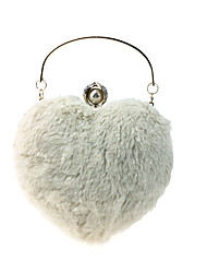 cheap -Women Bags Fur Evening Bag Buttons Feathers / Fur Pearl Detailing for Wedding Event/Party All Season Beige