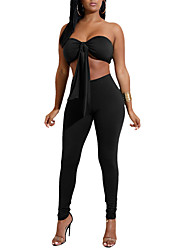 cheap -Women's Set - Solid Pant Strapless