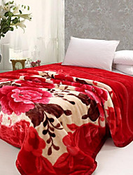 cheap -Super Soft,Yarn Dyed Floral/Botanical Polyester/Polyamide Blankets