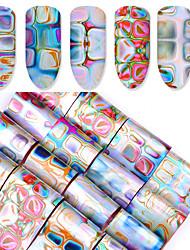 1 Autocollant d'art de clou Stickers Ornements Applique Autocollant Outils DIY Autocollant feuille Maquillage cosmétique Nail Art Design