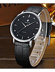 levne -WWOOR Pánské Náramkové hodinky Hodinky k šatům Módní hodinky Hodinky na běžné nošení Křemenný Žhavá sleva Kůže Kapela Na běžné nošení Cool