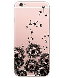 abordables -Coque Pour Apple iPhone X iPhone 8 Plus Motif Coque Paysage Pissenlit Flexible TPU pour iPhone X iPhone 8 Plus iPhone 8 iPhone 7 Plus