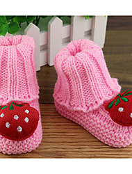 Baby Shoes Knit Fall Winter Comfort Slippers & Flip-Flops For Casual Pink Blue Red Yellow