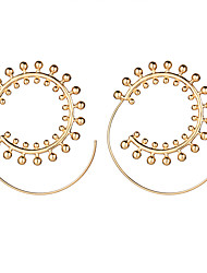 cheap -Women's Hoop Earrings Sweet Statement Jewelry Alloy Circle Drop Jewelry For Wedding Gift Casual Evening Party New Year