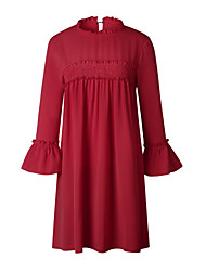 cheap -Women's Street chic T Shirt Dress - Patchwork Hollow, Lace Ruffle