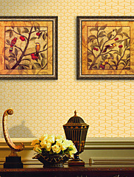 cheap -Floral/Botanical Animal Illustration Wall Art,PVC Material With Frame For Home Decoration Frame Art Living Room Kitchen Dining Room