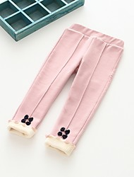 cheap -Girls' Solid Pants,Cotton Polyester Winter Fall Green Blushing Pink Dark Gray Navy Blue Light gray
