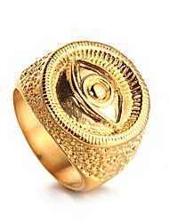 preiswerte -Herrn Statement-Ring Gold Edelstahl Freizeit Schmuck mit Aussage Hip-Hop Modisch Cool Normal Freizeitskleidung Modeschmuck