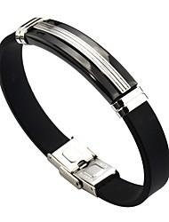 cheap -Men's / Women's Link Bracelet - Leather Classic Bracelet Black For Daily
