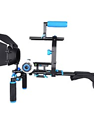 Yelangu D206 profissional armário de ombro suporte de câmera de liga de alumínio dslr rig matte boxfollow suporte em forma de foco