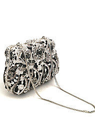 cheap -Women's Bags PU Metal Evening Bag Embroidery for Event/Party All Seasons Black