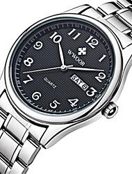 Недорогие -WWOOR Муж. Повседневные часы Модные часы Нарядные часы Наручные часы Кварцевый Календарь Нержавеющая сталь Группа На каждый день Cool