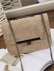 cheap -Women Bags PU Crossbody Bag Buttons for Casual All Season Black Dark Brown Dark Grey Light Grey Khaki