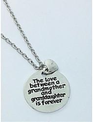 colares de pingente de mulher círculo coração liga jóias de amor para presente diariamente