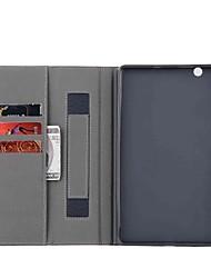 abordables -caja de cuero maciza patrón con soporte para huawei mediapad m3 8.4 pulgadas tablet pc