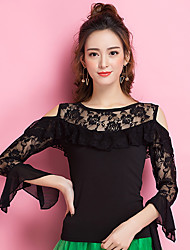cheap -Ballroom Dance Tops Women's Performance Ice Silk Lace 3/4 Length Sleeve Tops