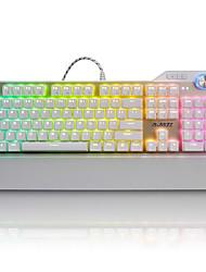 Недорогие -AJAZZ AJAZZ-AK35 RGB Проводное RGB подсветка Красные переключатели Brown переключатели 107 Механическая клавиатура Влагозащищенная