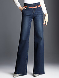 cheap -Women's Casual Wide Leg Pants - Solid Colored