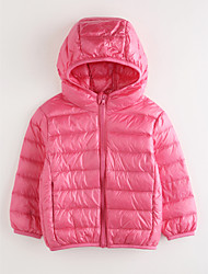 cheap -Girls' Solid Down & Cotton Padded, Cotton Long Sleeves Blushing Pink