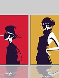 キャンバスプリント コンテンポラリー クラシック 田園風 近代の,2枚 キャンバス 縦式 プリント 壁の装飾 For ホームデコレーション