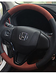 cheap -Steering Wheel Covers Leather 38cm Brown For Honda General Motors All years