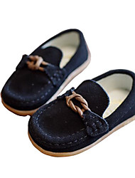cheap -Boys' Shoes Leather Nubuck leather Spring Fall Comfort Loafers & Slip-Ons for Casual Black Gray