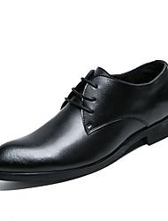 baratos -Homens sapatos Couro Outono / Inverno Sapatos formais Oxfords Preto
