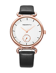 Mujer Reloj Casual Reloj de Moda Reloj de Pulsera Chino Cuarzo Resistente al Agua Piel Banda Casual Elegant Minimalista Negro Blanco
