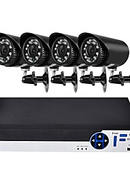 cheap -4 Channel 1080N AHD DVR Security Camera System with 4 Weatherproof 1.0MP Cameras with Night Vision
