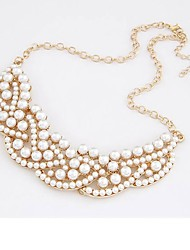 cheap -Women's Imitation Pearl Pearl Pendant Necklace - Sexy Statement Elegant White Necklace For Gift Evening Party