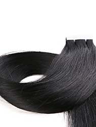 cheap -Tape In Human Hair Extensions Straight Human Hair Indian Hair 1pack Women's Christmas Gifts / Party / Halloween
