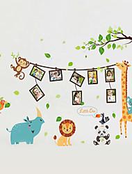 Недорогие -Животные Мода Мультипликация Наклейки Простые наклейки Декоративные наклейки на стены Фото наклейки, Винил Украшение дома Наклейка на